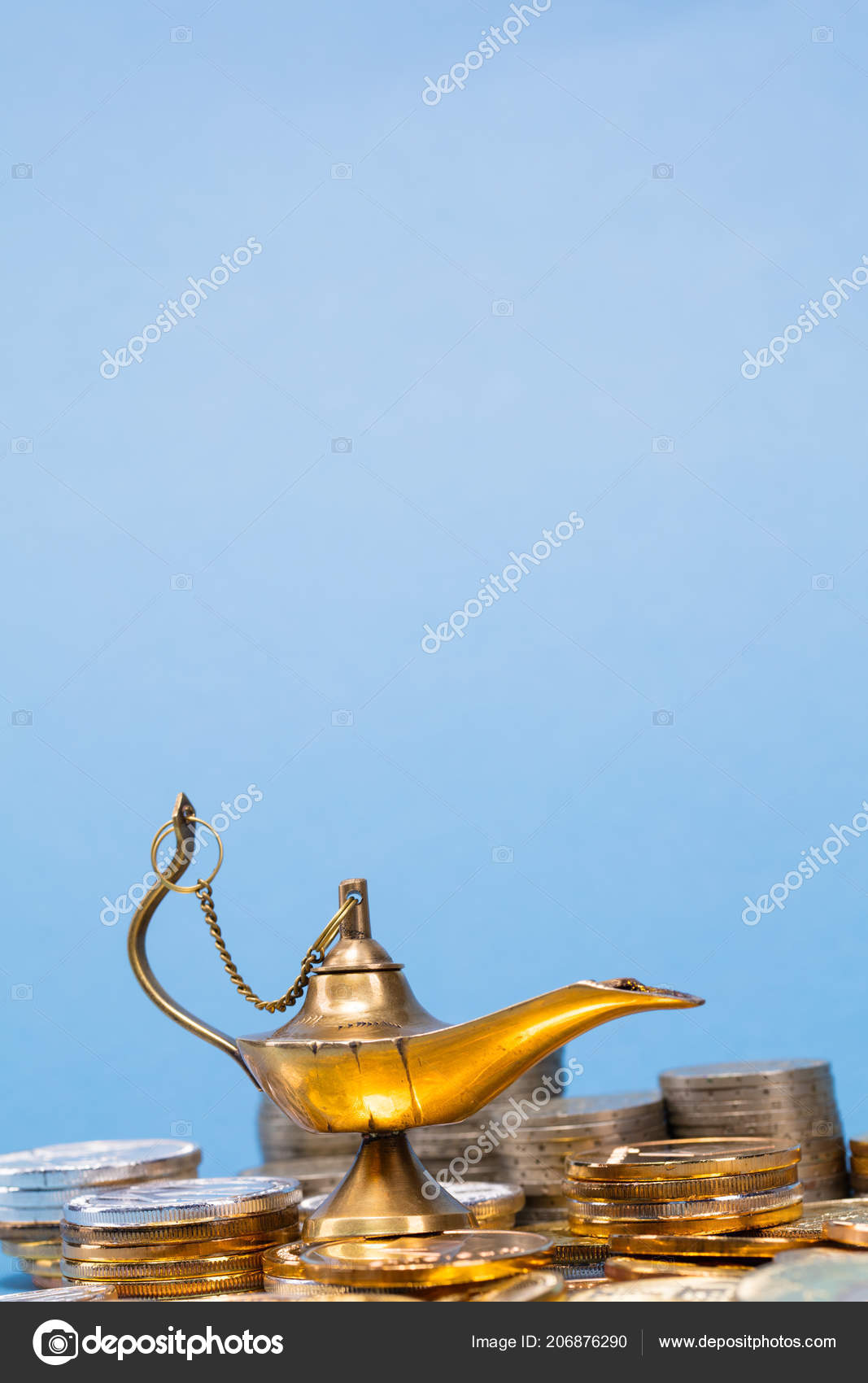 Magic Lamp Wishes Smoke Coming Out Lamp — Stock Photo © SectoR_2010