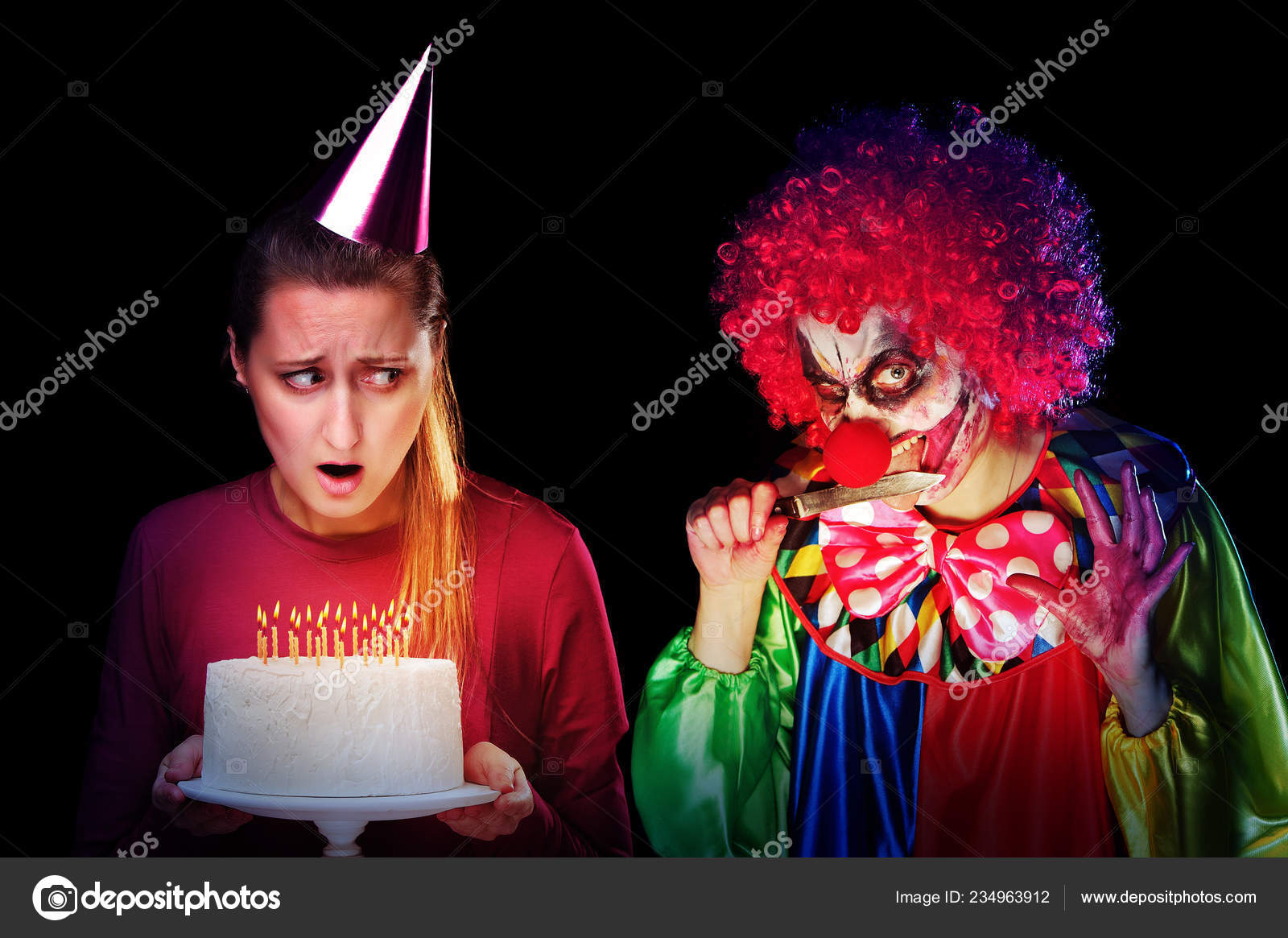 Terrific Pictures Scary Birthday Woman Holding Birthday Cake Looking Funny Birthday Cards Online Inifofree Goldxyz