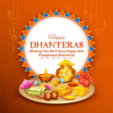 Happy Diwali Hindu Holiday background for light festival of India