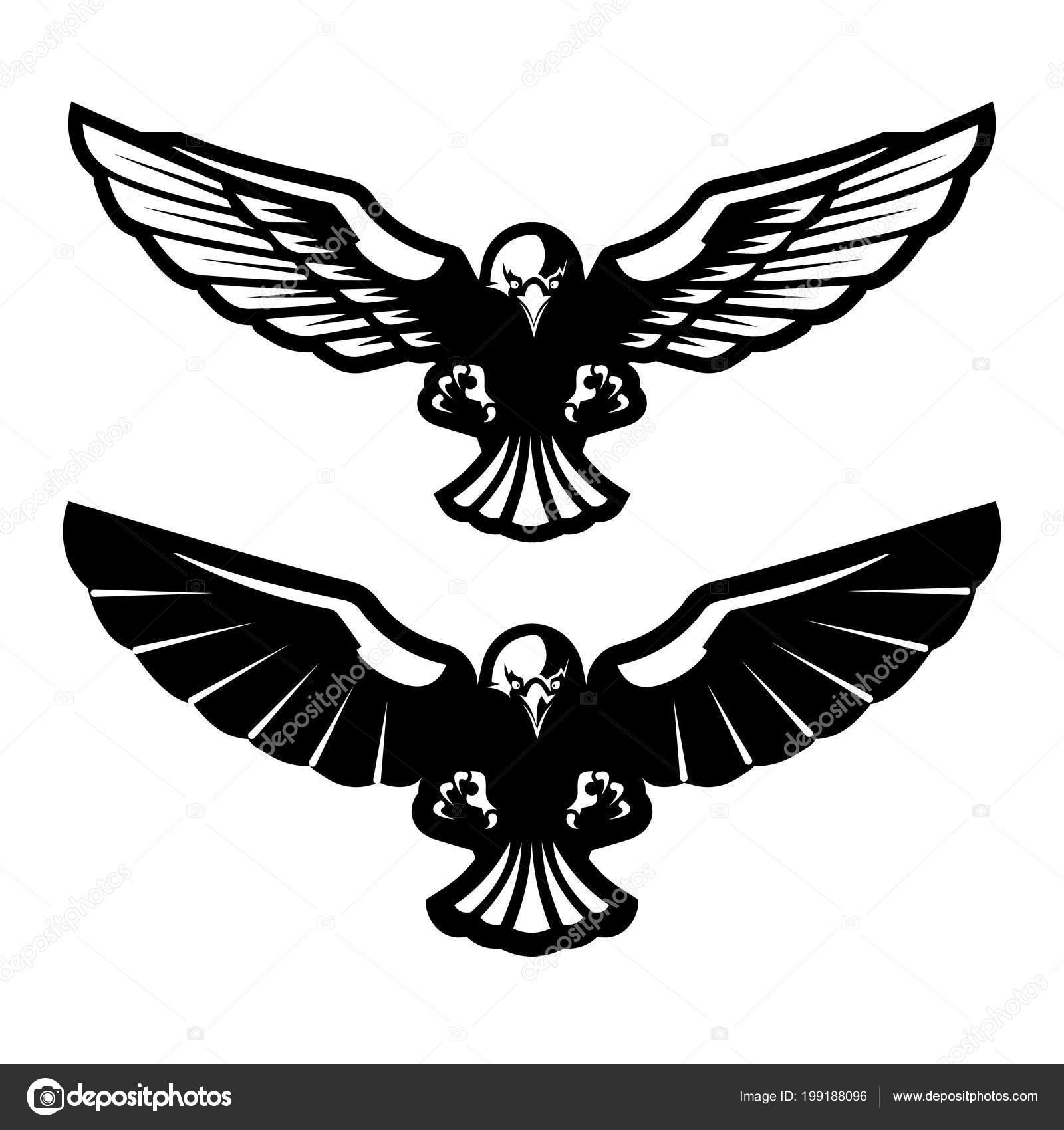 Bird Prey Attacks Vector Illustration Stock Vector C Matc 199188096