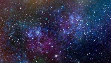 """Картина, постер, плакат, фотообои """"красочный звездный ночное небо космического фона. красивый фон неба """", артикул 277990108"""