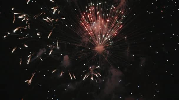 Színes látványos több tűzijáték a holiday
