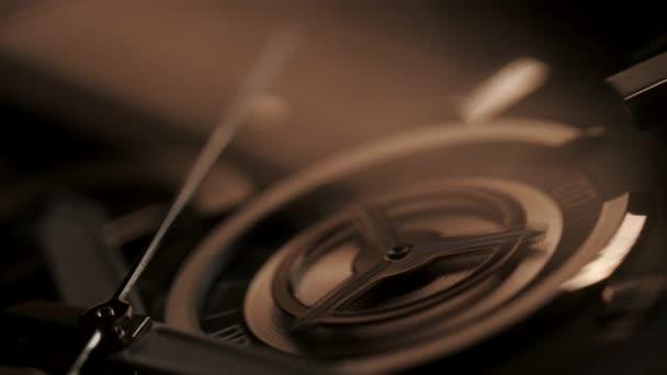 Luxury man watch detail, chronograph close up. 4k
