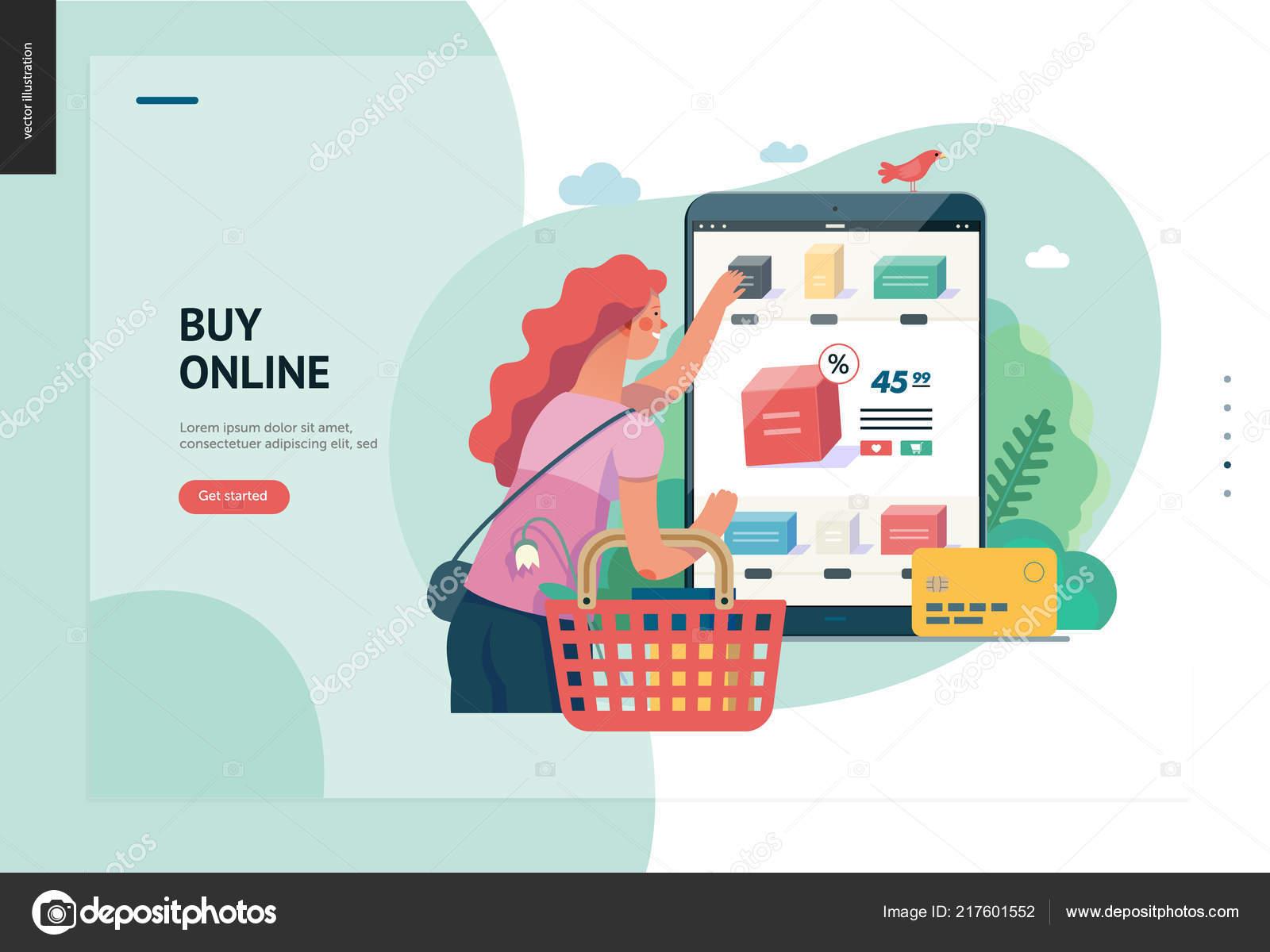 051cbd04e240 Бизнес-серии - Купить Интернет магазин веб-шаблон — Векторное ...