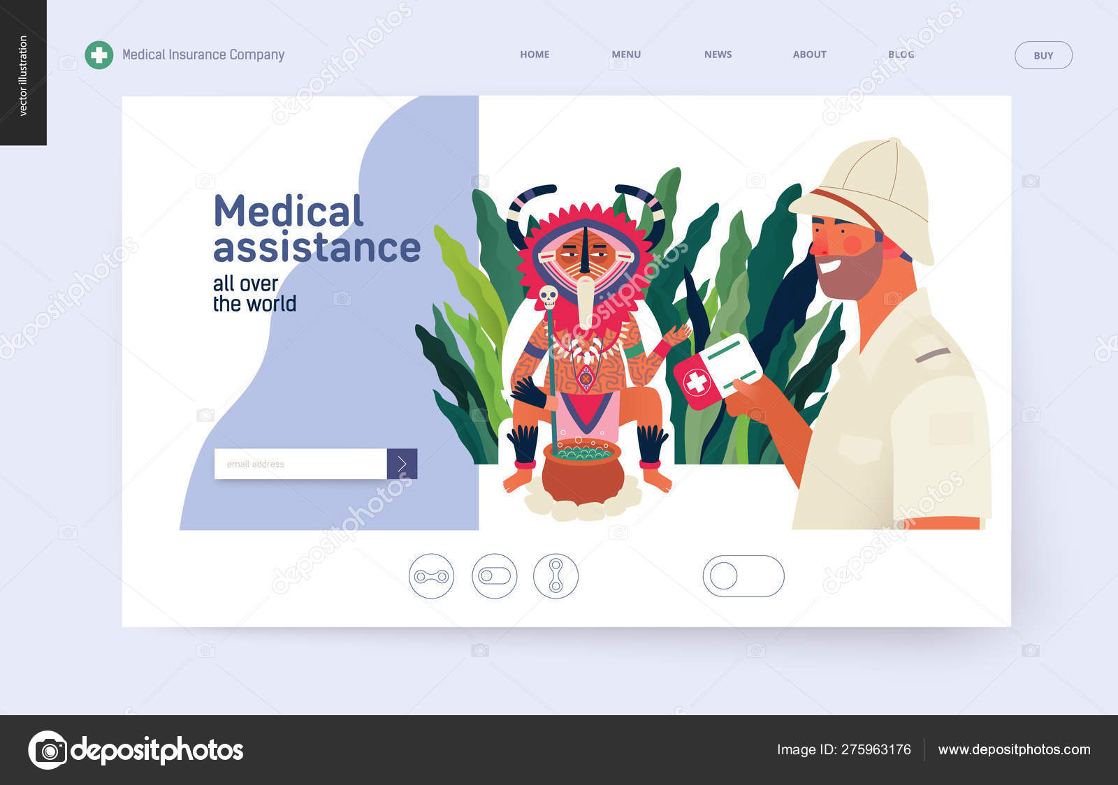 Medical insurance template - medical assistance all over the