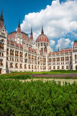 Majestic view of the National Hungarian Parliament building. Bud
