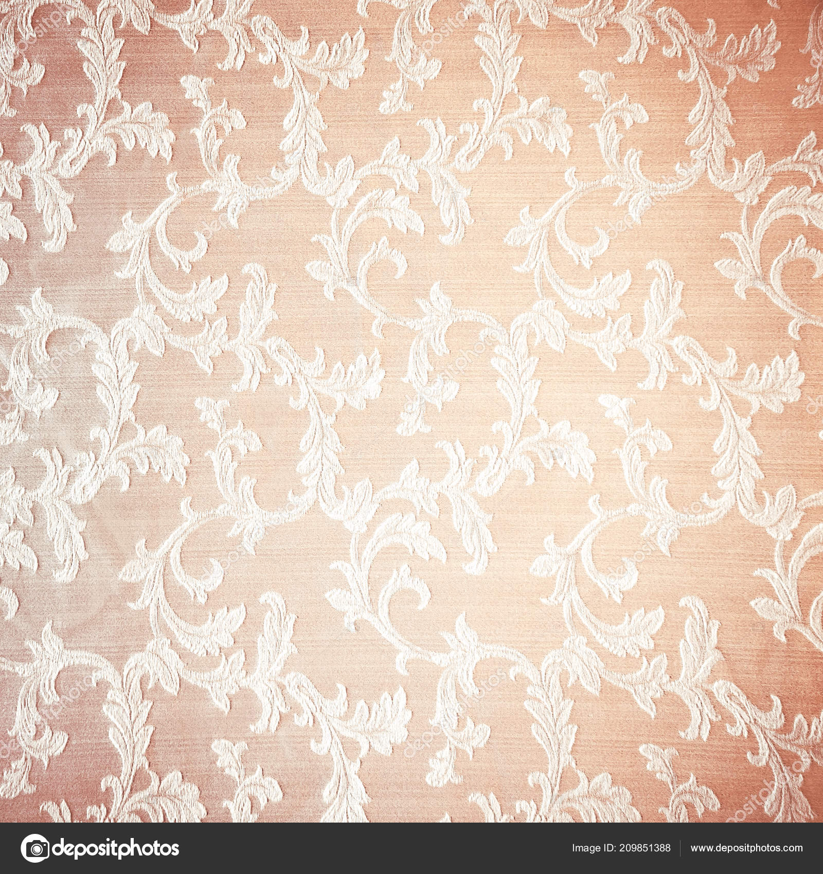 Retro Floral Curtains Background Abstract Beige Textured Wallpaper