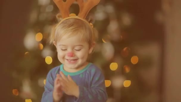 Christmas Baby Images Hd.Baby On Kid S Christmas Party Full Hd Video