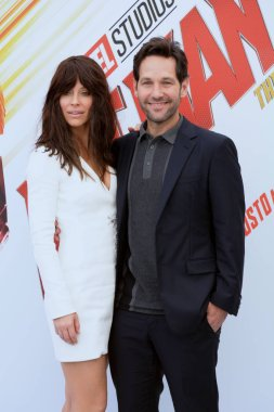 Giffoni Valle Piana, Sa, Italy - July 20, 2018 : Paul Rudd and Evangeline Lilly at Giffoni Film Festival 2018 - on July 20, 2018 in Giffoni Valle Piana, Italy