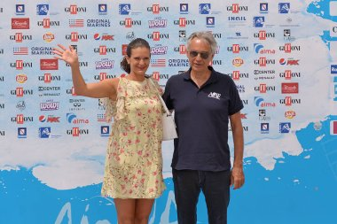 Giffoni Valle Piana, Sa, Italy - July 20, 2018 : Andrea Bocelli at Giffoni Film Festival 2018 - on July 20, 2018 in Giffoni Valle Piana, Italy