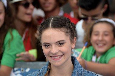 Giffoni Valle Piana, Sa, Italy - July 26, 2018 : Francesca Michielin at Giffoni Film Festival 2018 - on July 26, 2018 in Giffoni Valle Piana, Italy