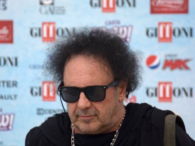 Giffoni Valle Piana, Sa, Italy - July 28, 2018 : Enzo Avitabile at Giffoni Film Festival 2018 - on July 28, 2018 in Giffoni Valle Piana, Italy