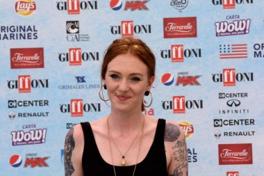 Giffoni Valle Piana, Sa, Italy - July 21, 2018 : Eva Pevarello at Giffoni Film Festival 2018 - on July 21, 2018 in Giffoni Valle Piana, Italy