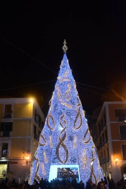 Italy : The Luci d'Artista, Christmas Lights Show in Salerno, December 8,2018