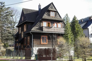 Residential building built of wooden logs