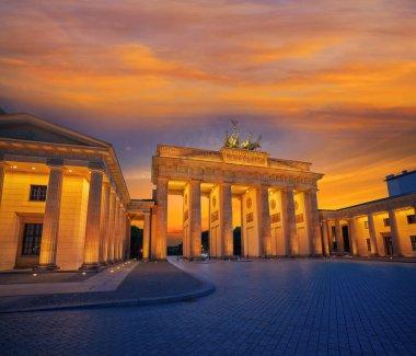 Berlin Brandenburg Gate Brandenburger Tor at sunset in Germany