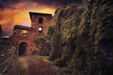 Burg Hohnstein ruins in Harz Neustadt of Germany