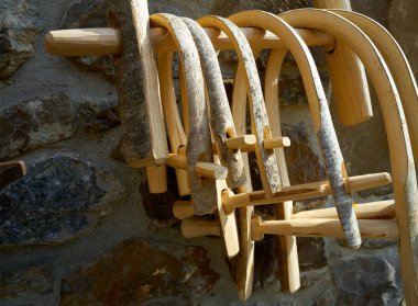 bull wooden yoke from cantabria Spain
