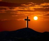 Photo Crucifixion cross symbol of Golgotha in Christian religion photo mount