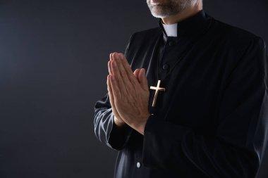 """Картина, постер, плакат, фотообои """"молитвенные руки портрет священника мужского пола """", артикул 222028996"""