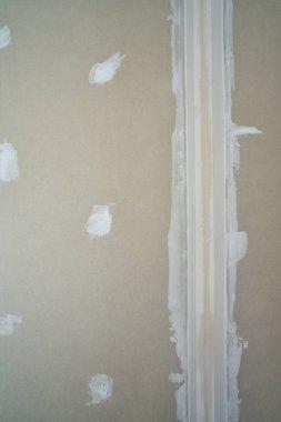laminated plasterboard join tape plastering DIY detail