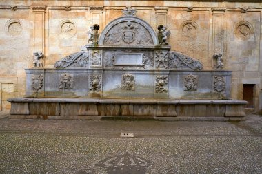 Alhambra fountain Pilar de Carlos V in Granada of Spain