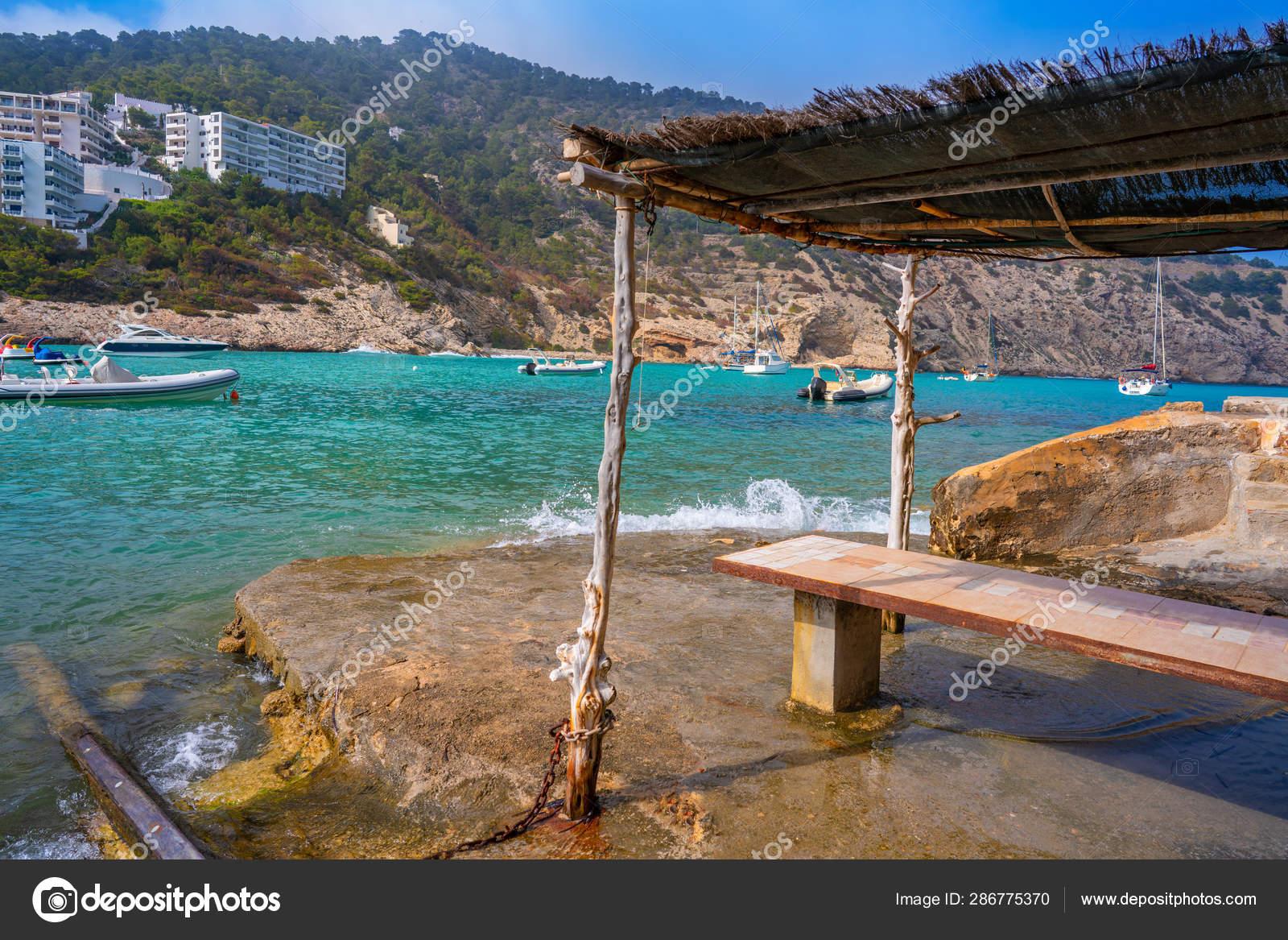 Ibiza Cala Llonga beach in Santa Eulalia — Stock Photo