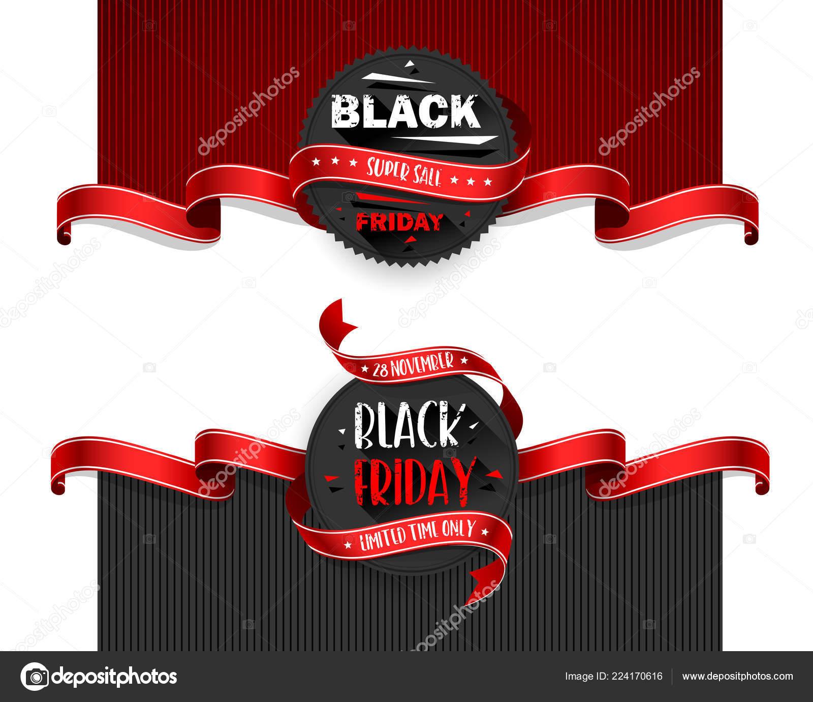 Black Friday Sale Flyers Set For Business Vector Illustration Stock Vector C Baks 224170616