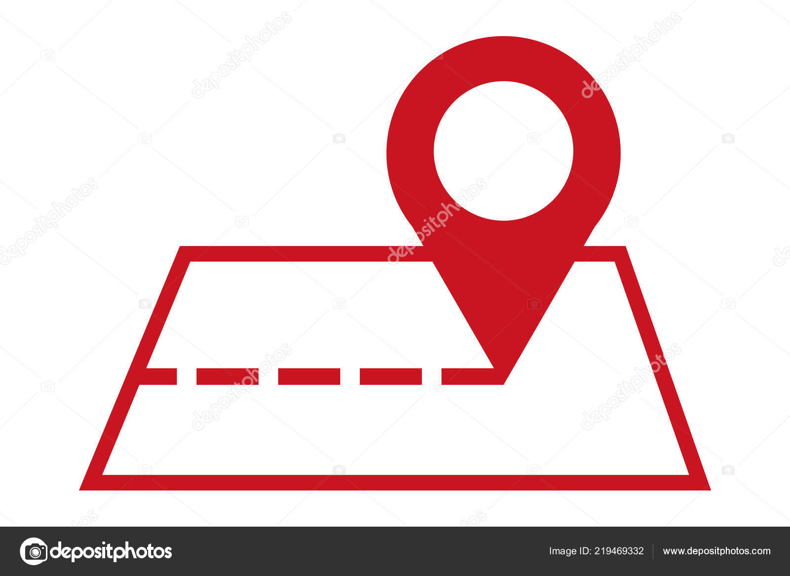 Mapa Plano Con Pin Icono De Puntero De La: Icono Puntero Mapa Símbolo Ubicación Gps Mapa Pin Señal