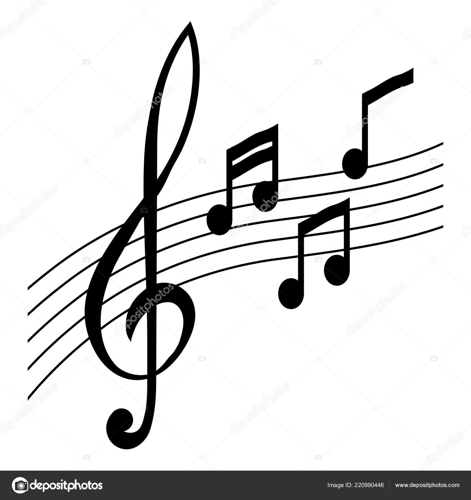 Simple Musical Note Symbol Treble Clef Concept Music Notes