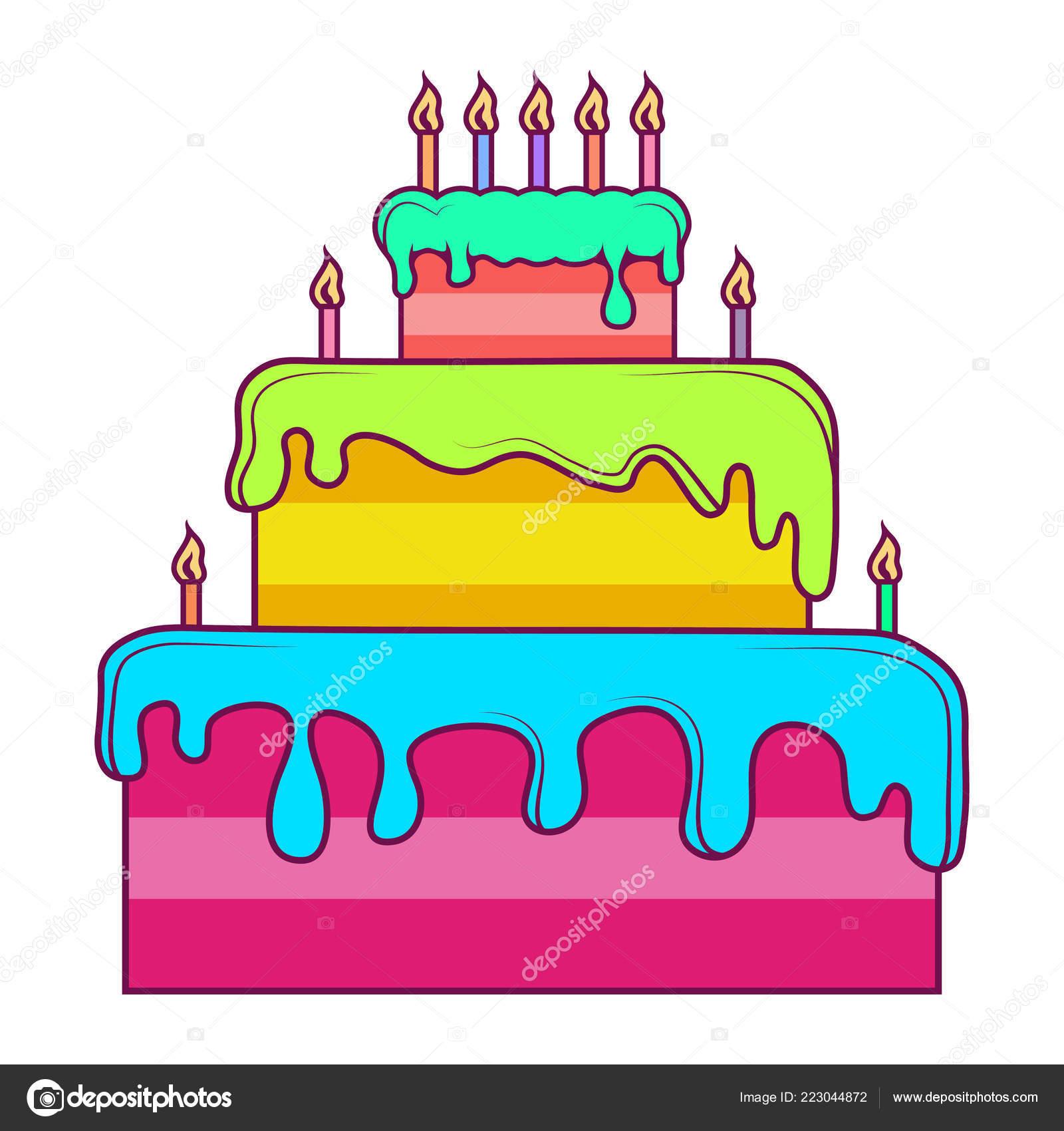 Birthday Cake Holiday Sweetness Cake Logo Cake Party Vector Artwork ...