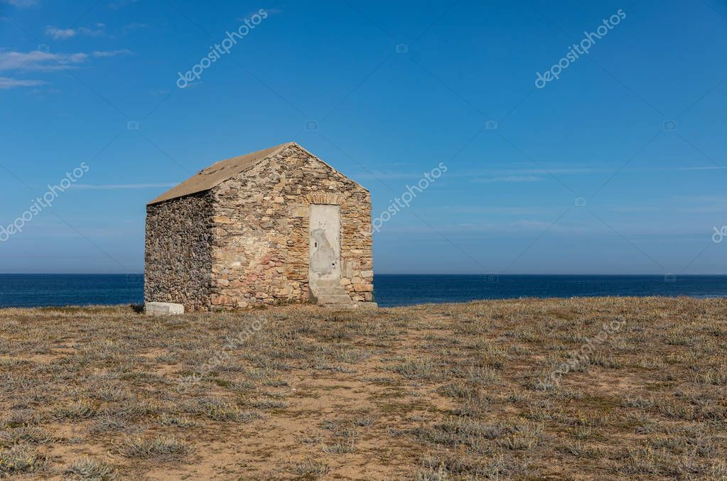 Old guardhouse in the dunes of La Chaume (Les Sables d'Olonne, France)