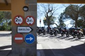parking for motorcycles on Tibidabo, Barcelona.