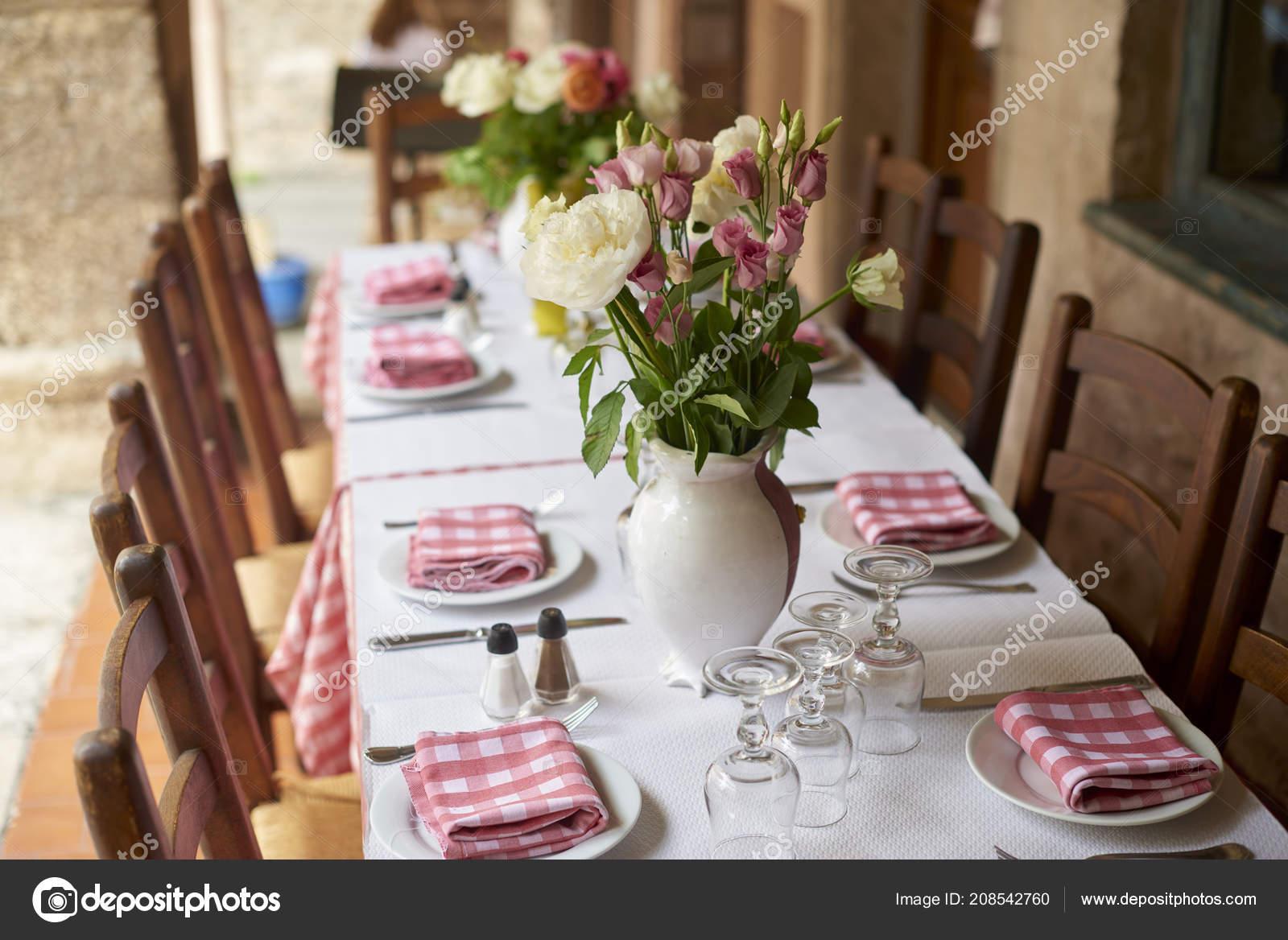 Shot Table Set Meal Restaurant Outdoor Terrace Stock Photo C Gzorgz 208542760