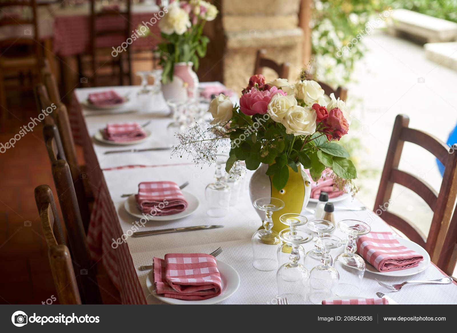 Shot Table Set Meal Restaurant Outdoor Terrace Stock Photo C Gzorgz 208542836