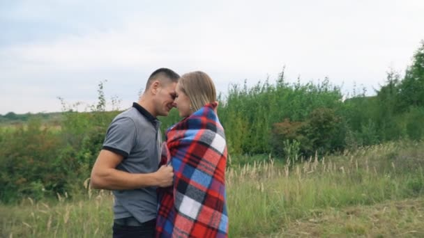 A természetben a fiatal pár
