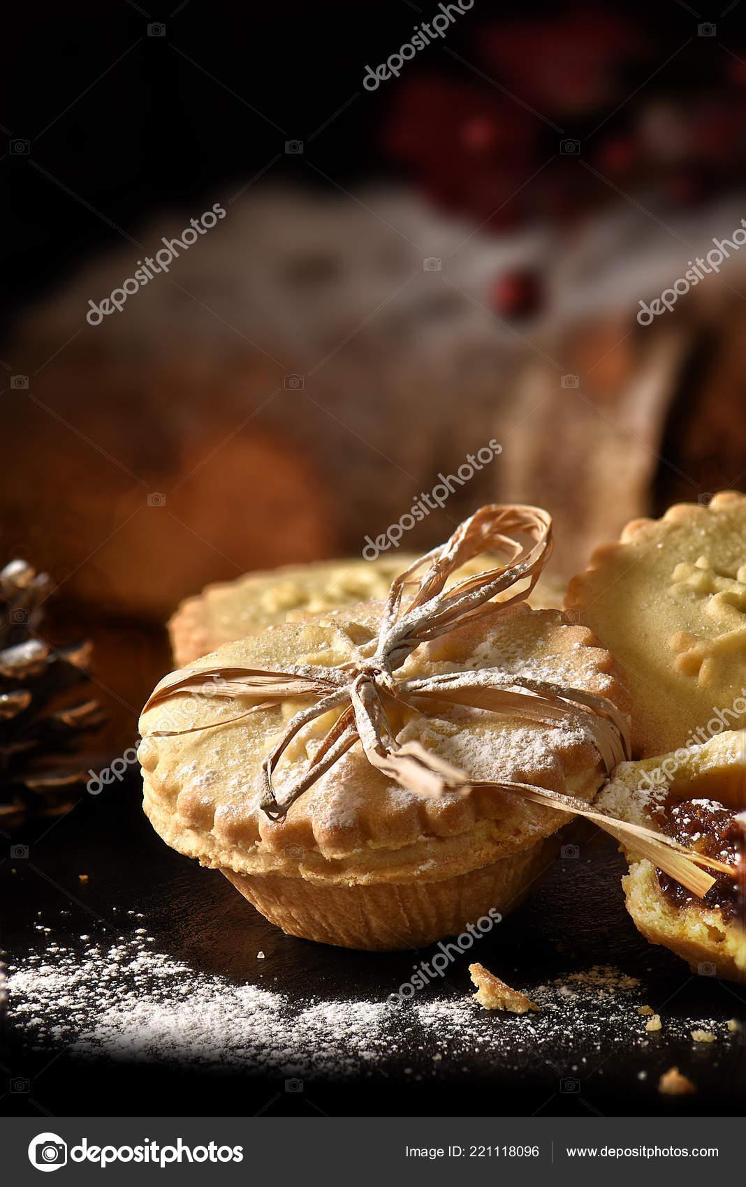 Saisonale Weihnachten Mince Pie Mit Zuckerguss Kreative Warme