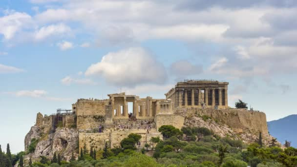 4 k timelapse z akropole Athény s chrám Parthenon