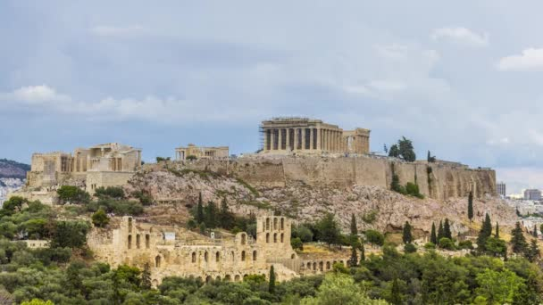4K timelapse of The Acropolis of Athens with the Parthenon Temple