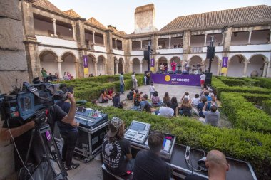FARO, PORTUGAL: 31st AUGUST, 2018 - Music band, Luis Severo, performs on Festival F