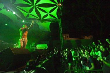 FARO, PORTUGAL: 2nd SEPTEMBER, 2018 - Music band, Kappa Jotta, performs on Festival F