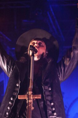 FARO, PORTUGAL: 2nd SEPTEMBER, 2018 - Music band, Moonspell, performs on Festival F, a big festival on the city of Faro, Portugal.