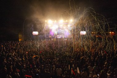FARO, PORTUGAL: 2nd SEPTEMBER, 2018 - Music band colective, Revenge of the 90s, performs on Festival F