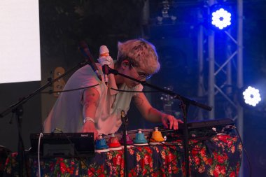 FARO, PORTUGAL: 2nd SEPTEMBER, 2018 - Music artist, Surma, performs on Festival F, a big festival on the city of Faro, Portugal.