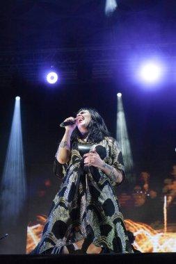 FARO, PORTUGAL: 2nd SEPTEMBER, 2018 - Music artist, The Gift, performs on Festival F