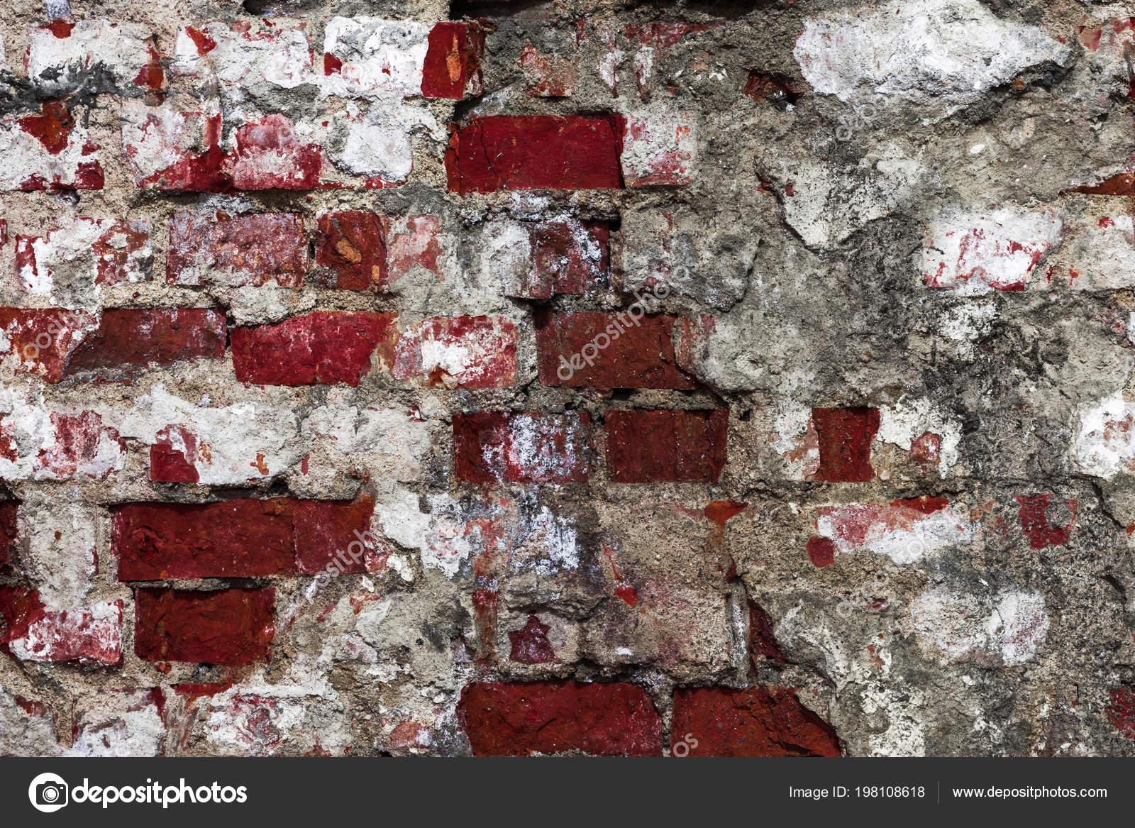 Struttura Scura Vecchio Muro Antico Edificio Con Uno Strato Intonaco