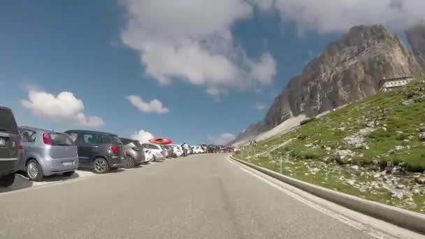 Travelling in Dolomites Alps Mountains