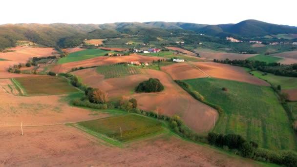 A légi felvétel a Chianti régió, Toszkána, Olaszország