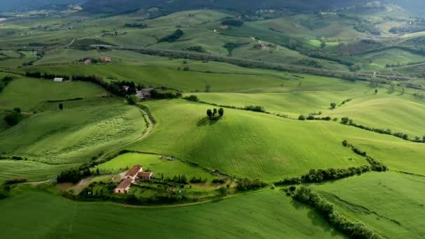Az ország tájképe Chianti régióban, Toszkána, Olaszország