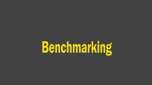 Benchmarking concept word cloud background